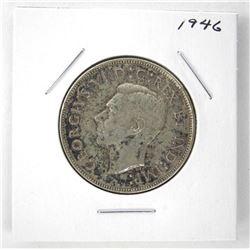 1946 George VI Canada Silver 50 Cent Coin