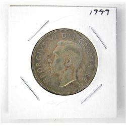 1949 George VI Canada Silver 50 Cent Coin