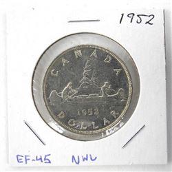 1952 Canada Silver Dollar EF45. NWL.