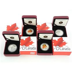 Lot (4) .9999 Fine Silver $10.00 Coins 'OH CANADA'
