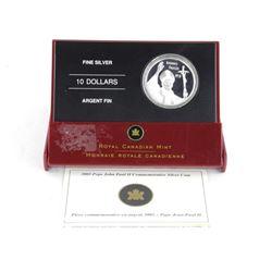 .9999 Fine Silver $10.00 Coin 'The Pope'