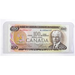 1975 Bank of Canada One Hundred Dollar Note.