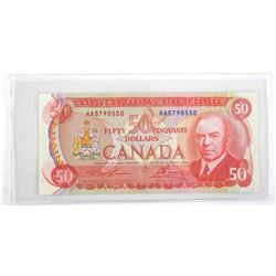 1975 Bank of Canada Fifty Dollar Note. RCMP Format