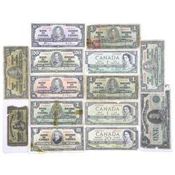 Estate Lot Mixed Banknotes