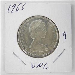 1966 Canada Silver 50 Cent Coin.