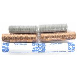 Lot (6) Rolls - Canada 1 cent, 5 cent, 10 cent