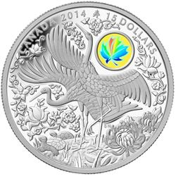 2014 $15 Maple of Longevity - Pure Silver Coin.