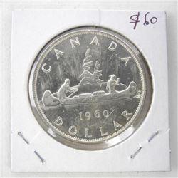 1960 Canada Silver Dollar UNC