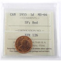 1955 Canada One Cent MS-64
