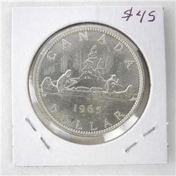 1965 Canada Silver Dollar Cameo P5-MB UNC
