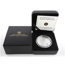 .9999 Fine Silver $20.00 Coin Queen's Diamond Jubi