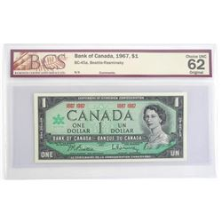 Bank of Canada 1867-1967 Centennial One Dollars UN