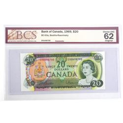 Bank of Canada 1969 Twenty Dollar Note. UNC62. BCS