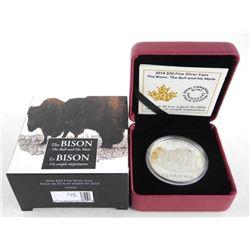 .9999 Fine Silver $20.00 Coin 'BISON'