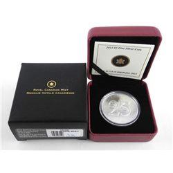 .999 Fine Silver $5.00 Coin '25th Anniversary' SML