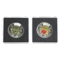 Lot (2) 2018 Armistice 2.00 Coins