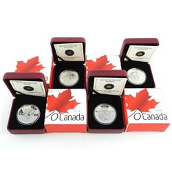 Lot (4) .999 Fine Silver $25.00 Coins OH CANADA Se