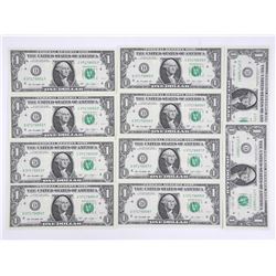 Lot (10) 2013 US 1.00 Choice UNC In Sequence