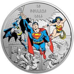 .999 Fine Silver $20.00 Coin 'D.C. Comics Trinity'