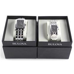 BULOVA Matched Set - His and Hers Diamond - Watche