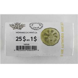 RCM Special Wrap Roll 25 x $1.00 Coins 'Equality'