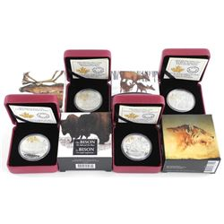 Lot (4) .9999 Fine Silver $20.00 Coins 'Wildlife -