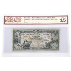 Canadian Bank of COmmerce 1935 Ten Dollar Note. Ty