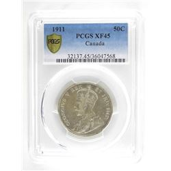 1911 Canada 50 cents PCGS. XF45