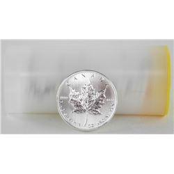 Lot (25)Tube/ .9999 Fine Silver $5.00 Coins 2011 M