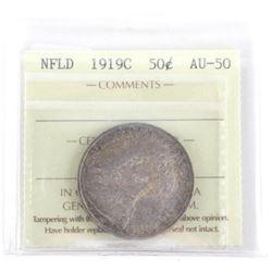 NFLD 1919C 50 Cent AU55. ICCS