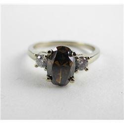 (CES17) Estate Ladies 18kt Gold White Gold Ring Ov