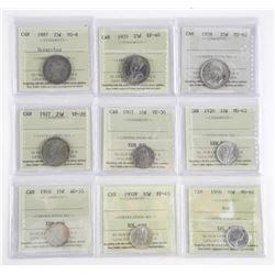 Estate Lot (9) ICCS Canada Coins