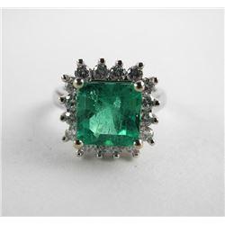 (CES07) Estate Custom Ring Ladies 18kt White Gold