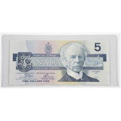 Bank of Canada 1986 Canada Five Dollar 'BIRD'