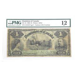 Dominion of Canada 4.00- 1900 Fine 12 PMG (MSER).