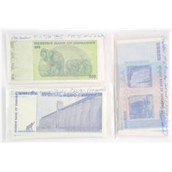 Zimbabwe Complete P33-98 65pc Note Set UNC 100 Tri