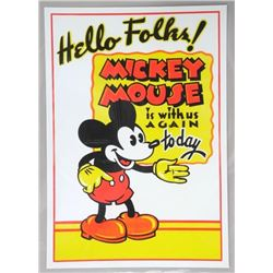 """Mickey Mouse - Vintage Image 18x22"""""""