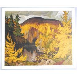 """A.J. Casson (1898-1992) 24x20"""" Litho 'Autumn of t"""