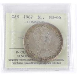 1967 Canada Silver Dollar MS-66 ICCS.