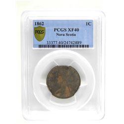 1862 Nova Scotia Large Cent. XF40. 'PCGS'