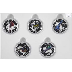 RCM Songbirds of Canada 5 Coin Set, .9999 Fine Sil