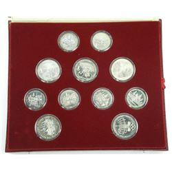 1980 - USSR - 28Pc Olympic Coin Set - Silver Compl