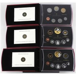 Lot (3) Proof RCM Coin Sets: 2007, 2008, 2009