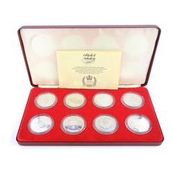 Spink and Son 8pc Set, Silver Jubilee, Crowns, 925