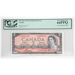 Bank of Canada 1954 Two Dollar Note * Replacement