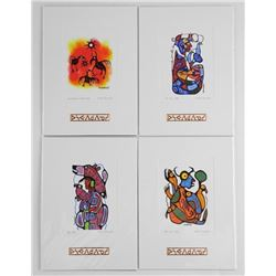 4pc Set- Norval Morrisseau (1931-2007) Cameo Colle