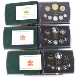 Lot (3) RCM Proof Coin Sets: 2002, 2003, 2004