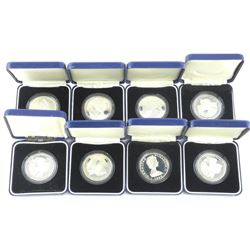 Lot (8) 925 Silver Crowns