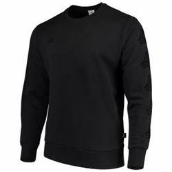 adidas Men's Tango Crew Sweatshirt- Black- 2XTG