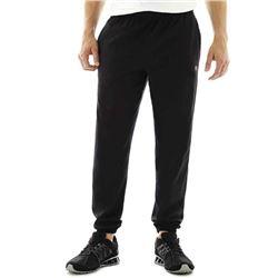Champion Men's Closed Bottom Jersey Pant- Black- L